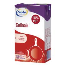 Crème Fraîche Solo Delifine culinair 1L 15% brique