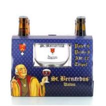 St. Bernardus 4x33cl + verre emballage cadeau