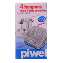 Laine d'Acier extra-fine avec savon 4pc Piwell