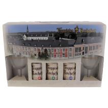 Bière Trappiste Rochefort 3x33cl + 2 verres + coffret cadeau