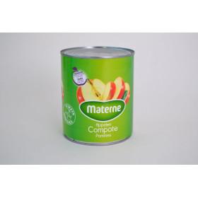 Compote de pommes avec morceaux sans sucre 1L Materne