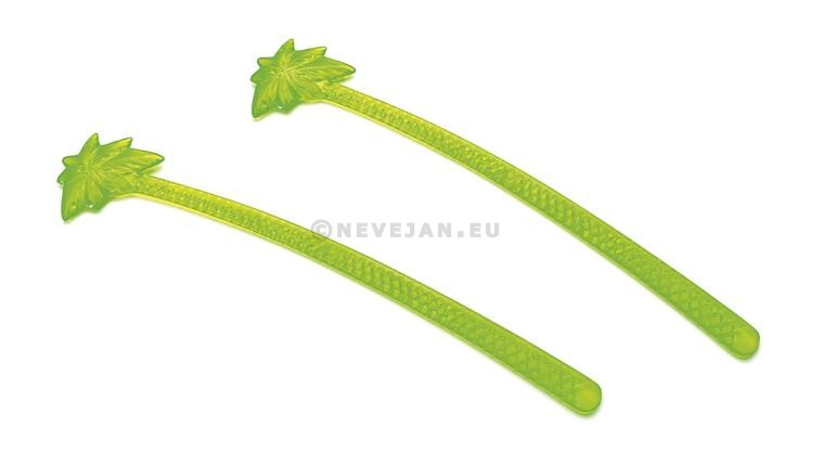 Cocktail stirrer Palm Tree 6inch 150mm Fluo green 100pcs 12018 Sier Disposables