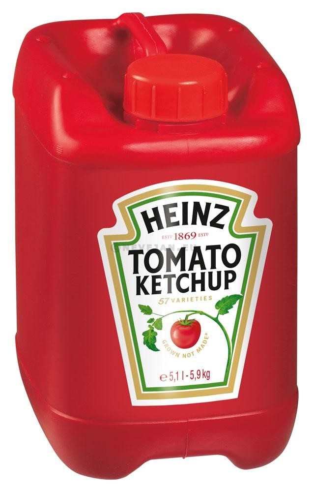 Heinz tomato ketchup 5.1L 5.7kg jerrycan