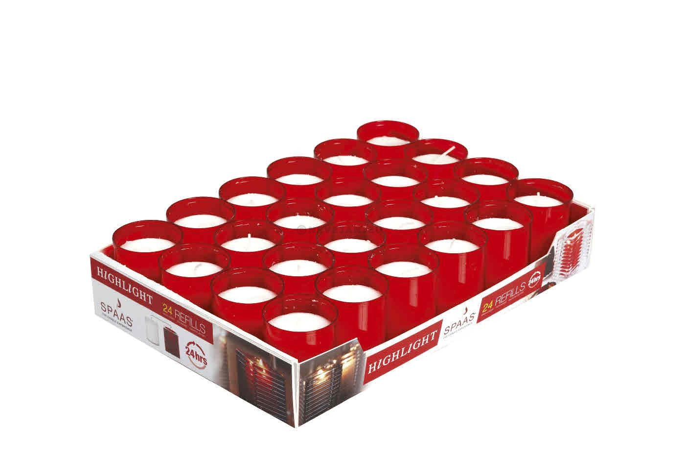 Candle Highlight refills red 24pcs Spaas