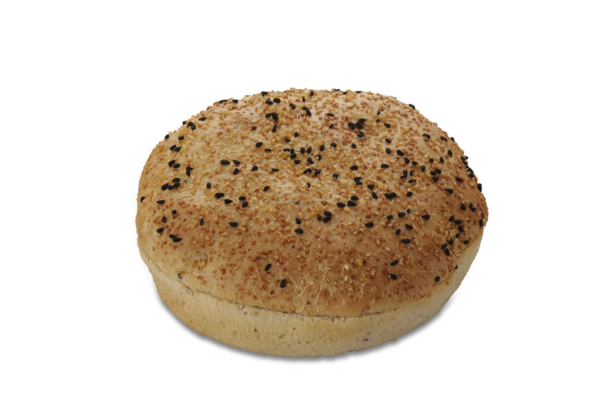 Black Pepper Hamburger Bun 13cm 36x90gr Pastridor 2638 Diepvries