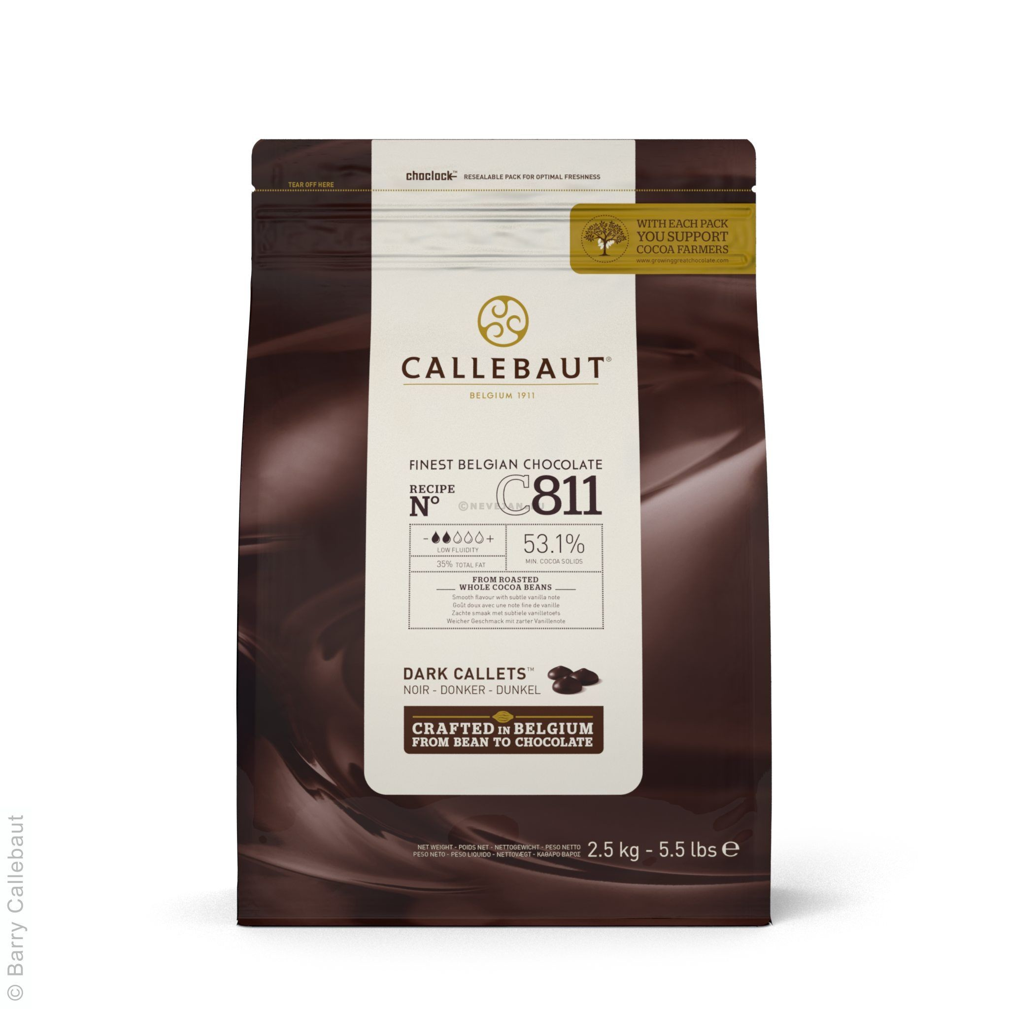 Chocolate Callets C811 dark 2.5kg Barry Callebaut