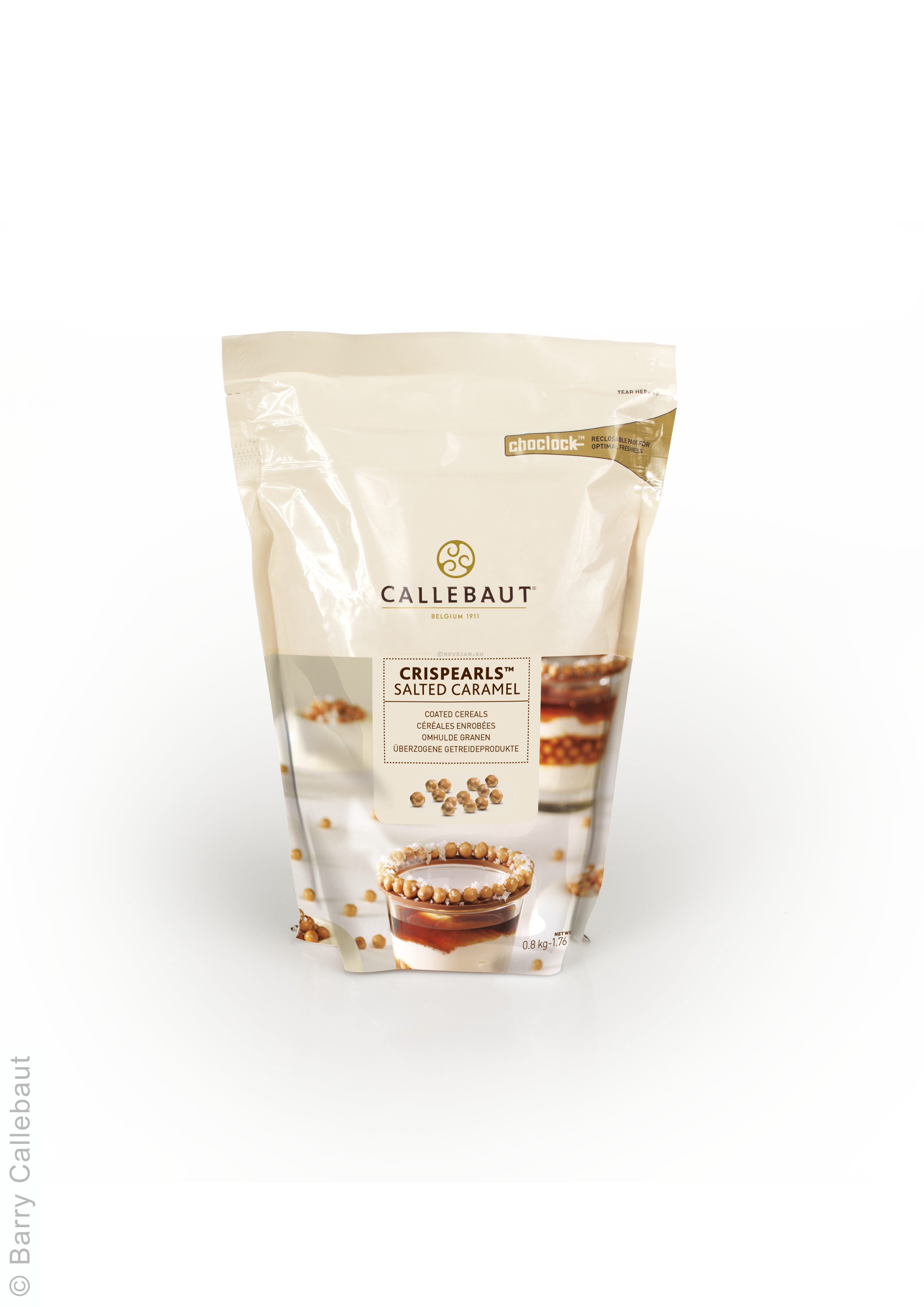 Callebaut Crispearls cereals coated with Salted Caramel 1.76lbs 800gr