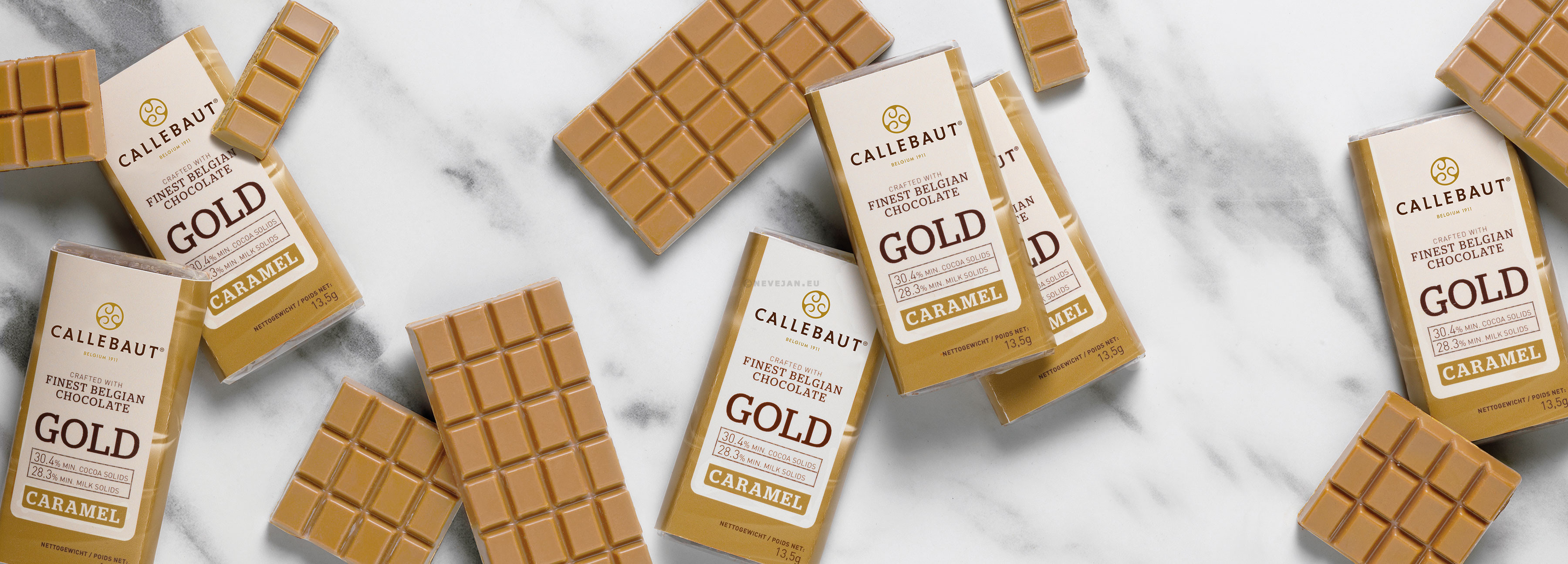 Callebaut Napolitains Chocolate Gold 75pcs Wrapped Individually