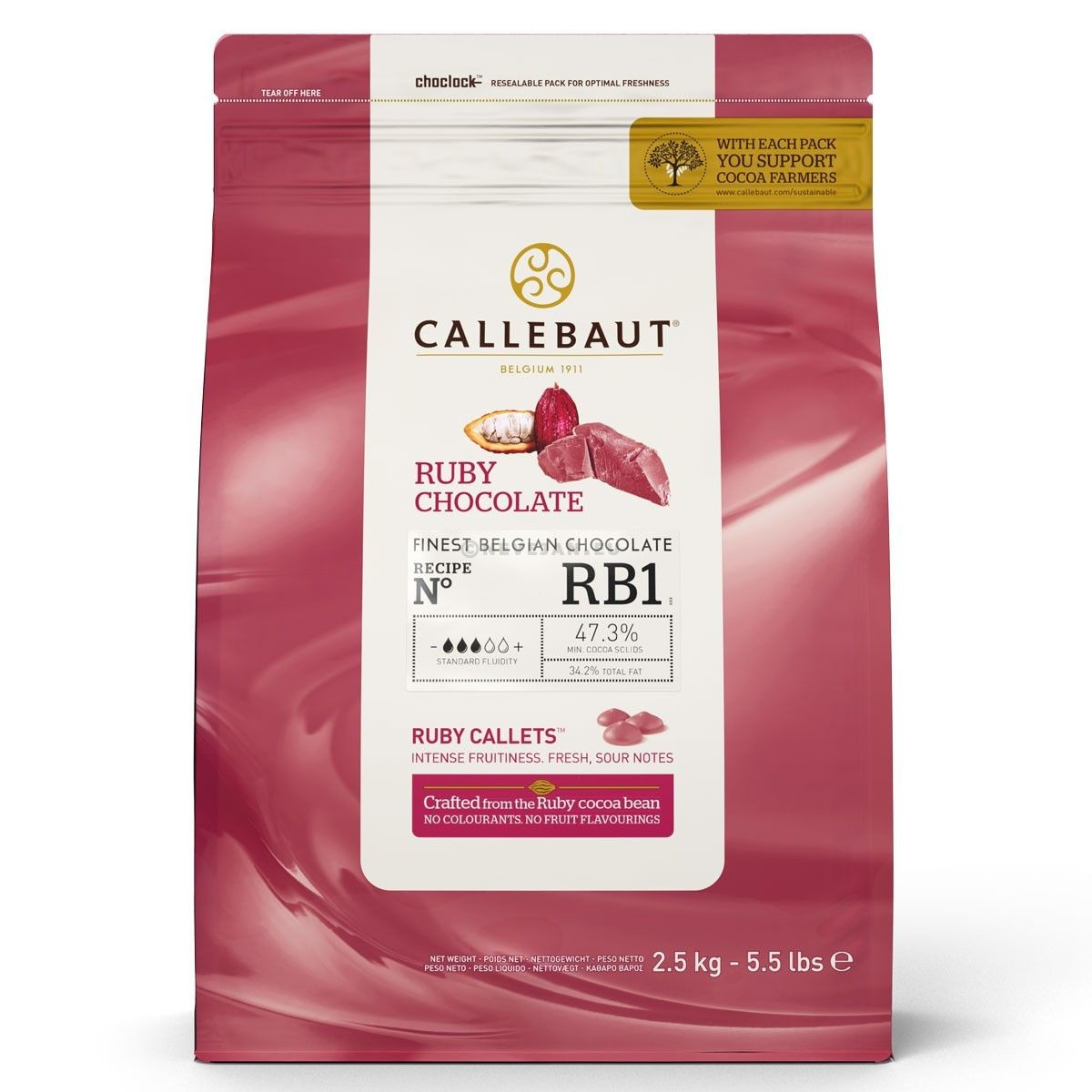 Barry Callebaut Chocolate Milk  with real Caramel 2,5kg callets