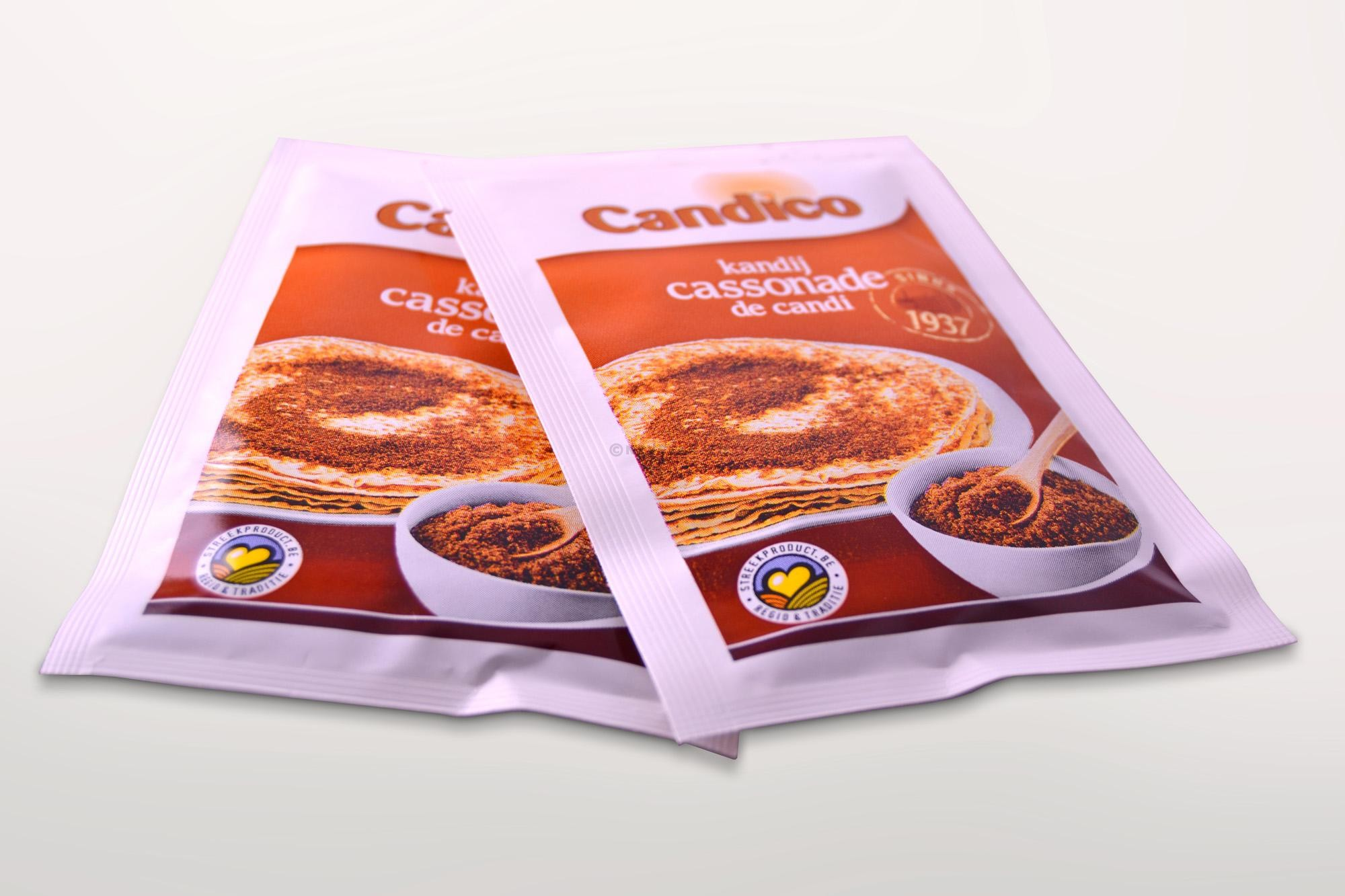Brown sugar powder portions 100x20gr Candico