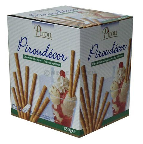 Pirou Wafer Rolls Piroudecor 17x12pcs=204pcs