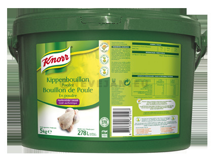 Knorr chicken bouillon powder dehydrated 5kg bucket