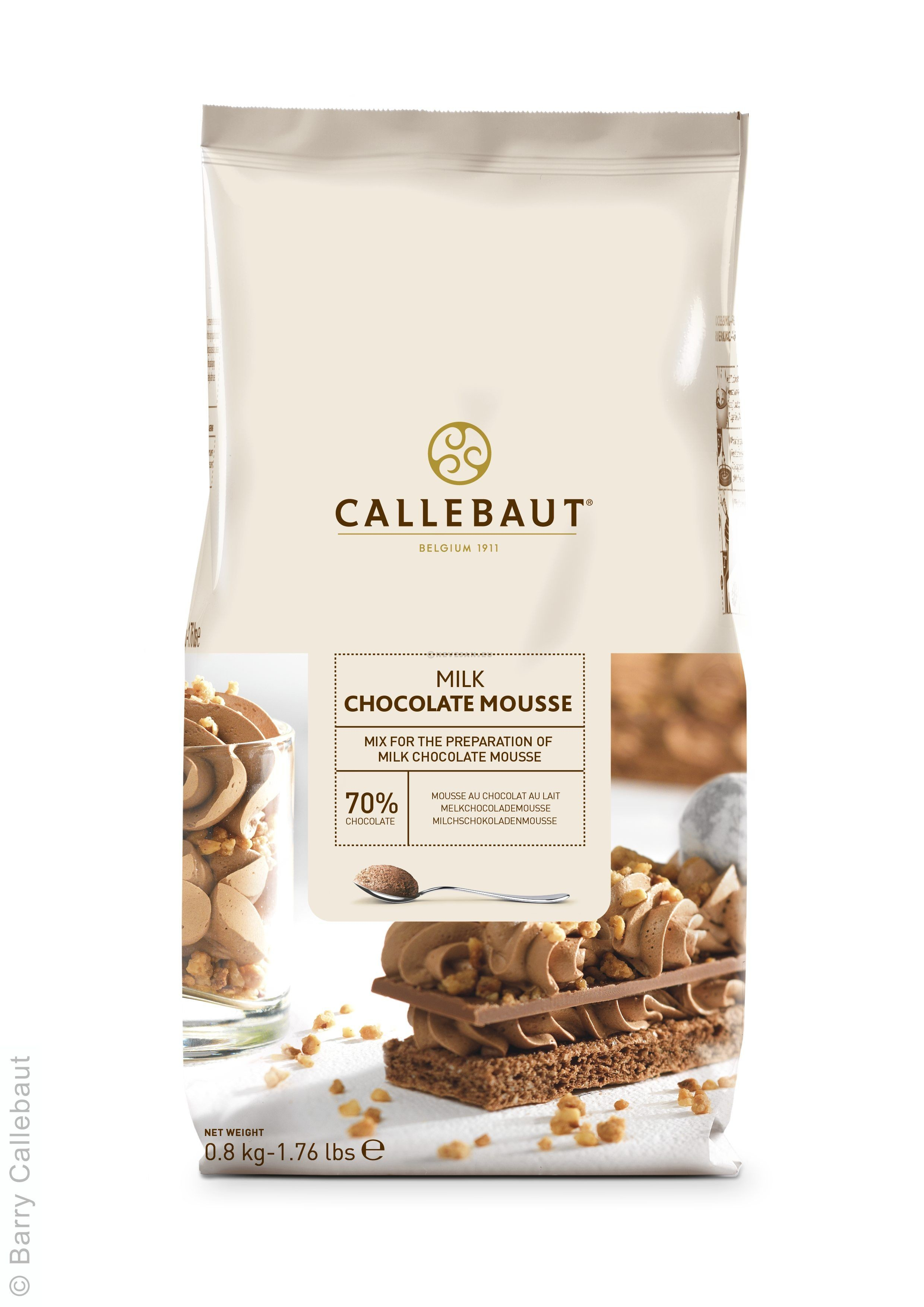 Callebaut mix for milk chocolate mousse 800gr