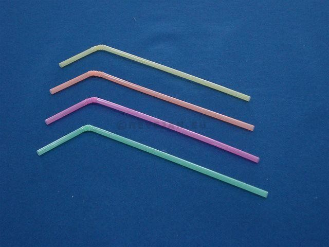 Colorful Drinking straws flexible 5mm 24cm 250pcs