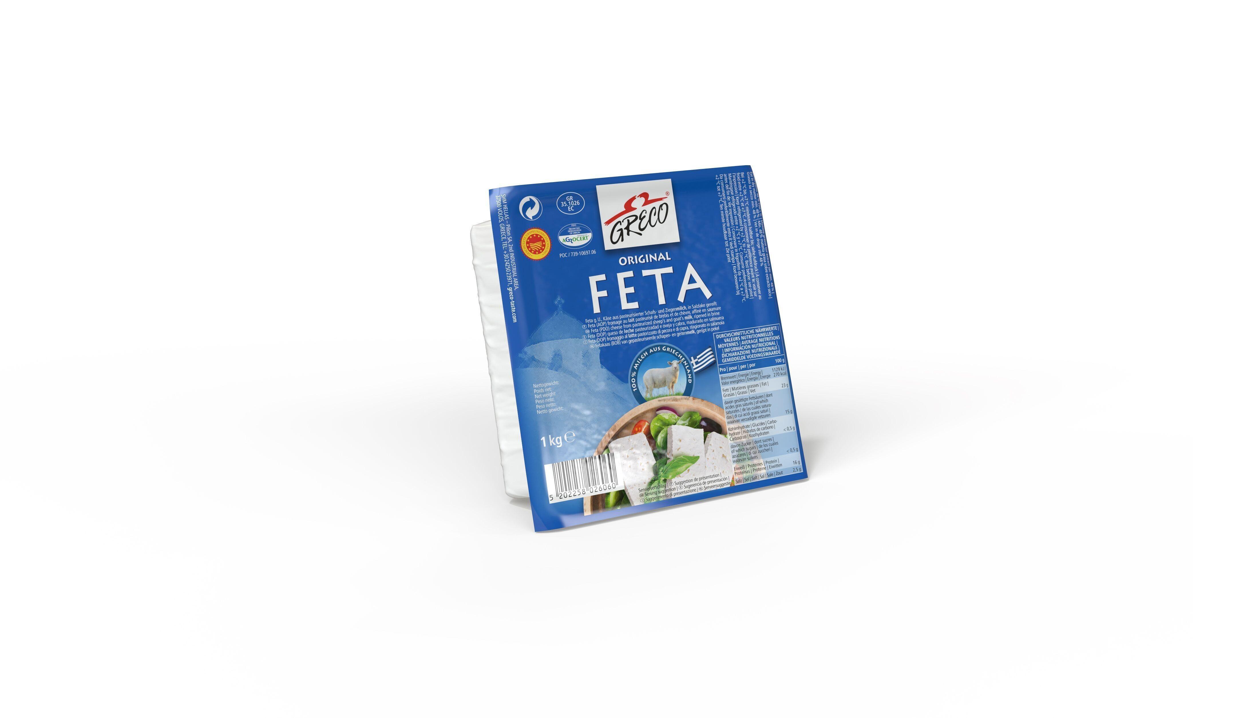 Original Greek Feta Cheese 1kg Greco