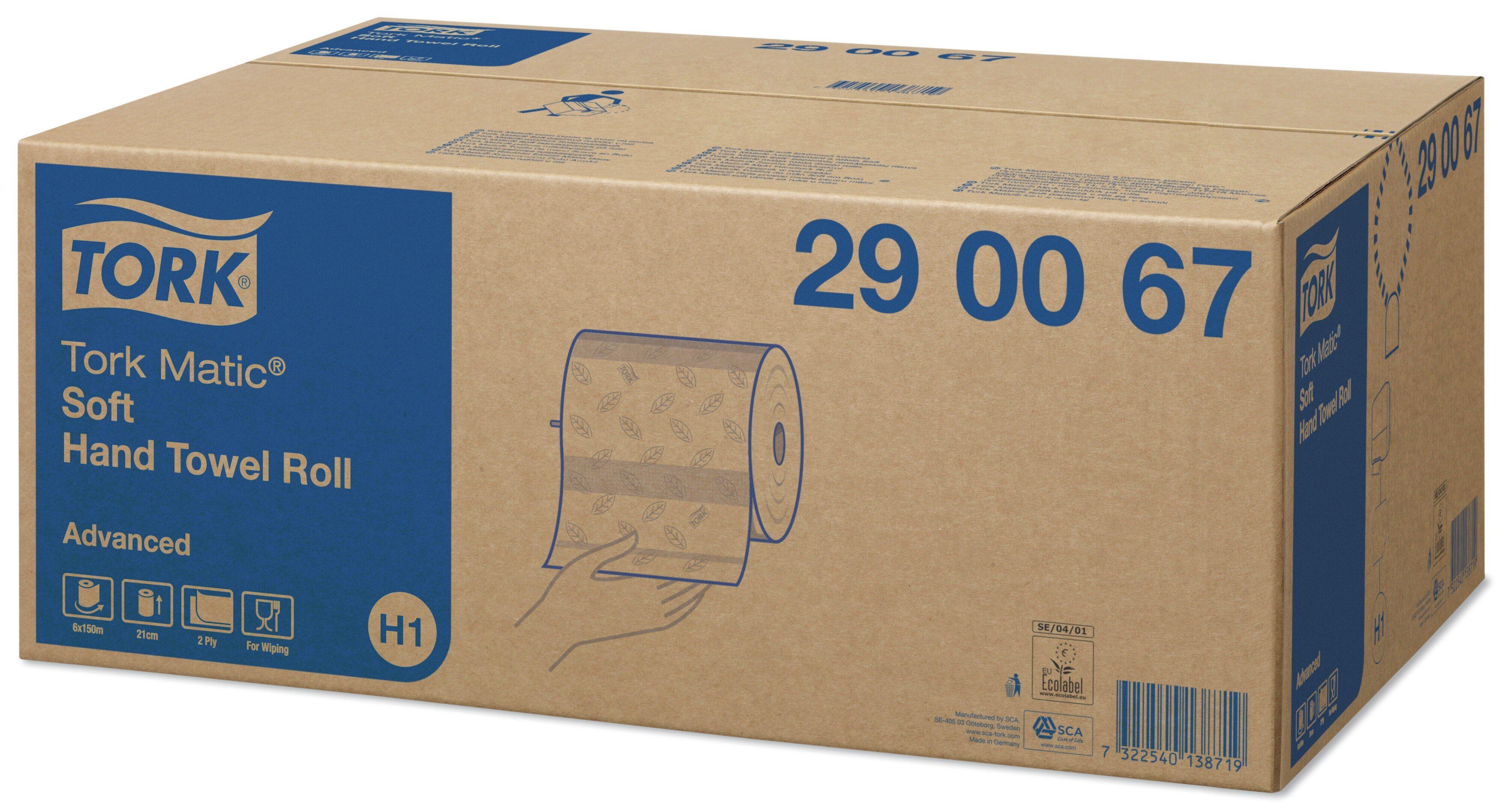 TORK Matic H1 wit handdoekrol 2lg 6rollen 290067