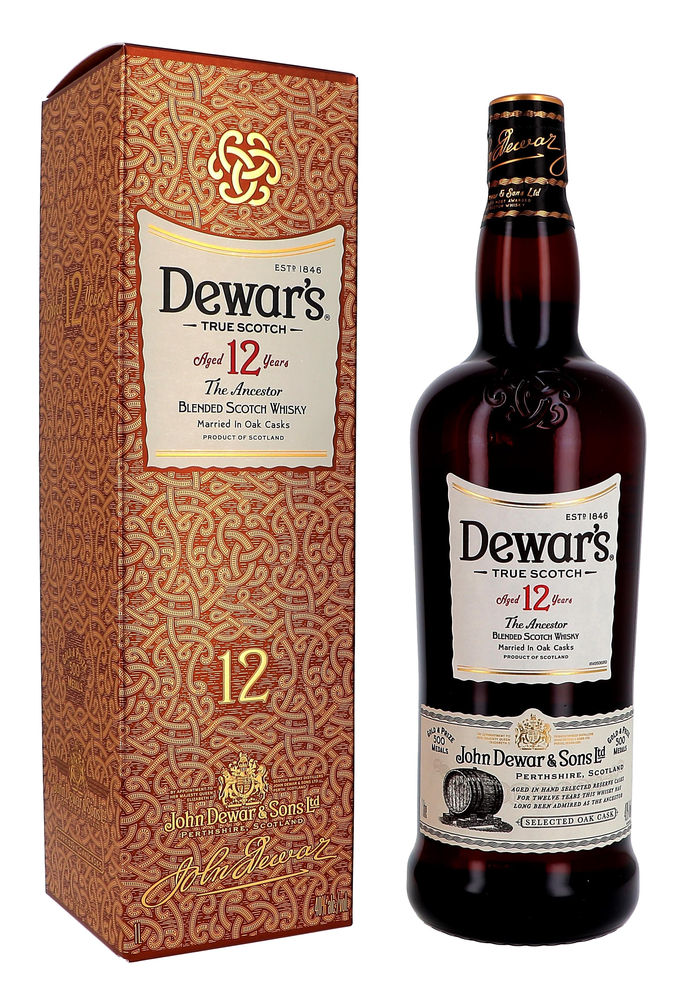 Dewar's 12 Years Special Reserve 1L 40% Blended Scotch Whisky (Whisky)