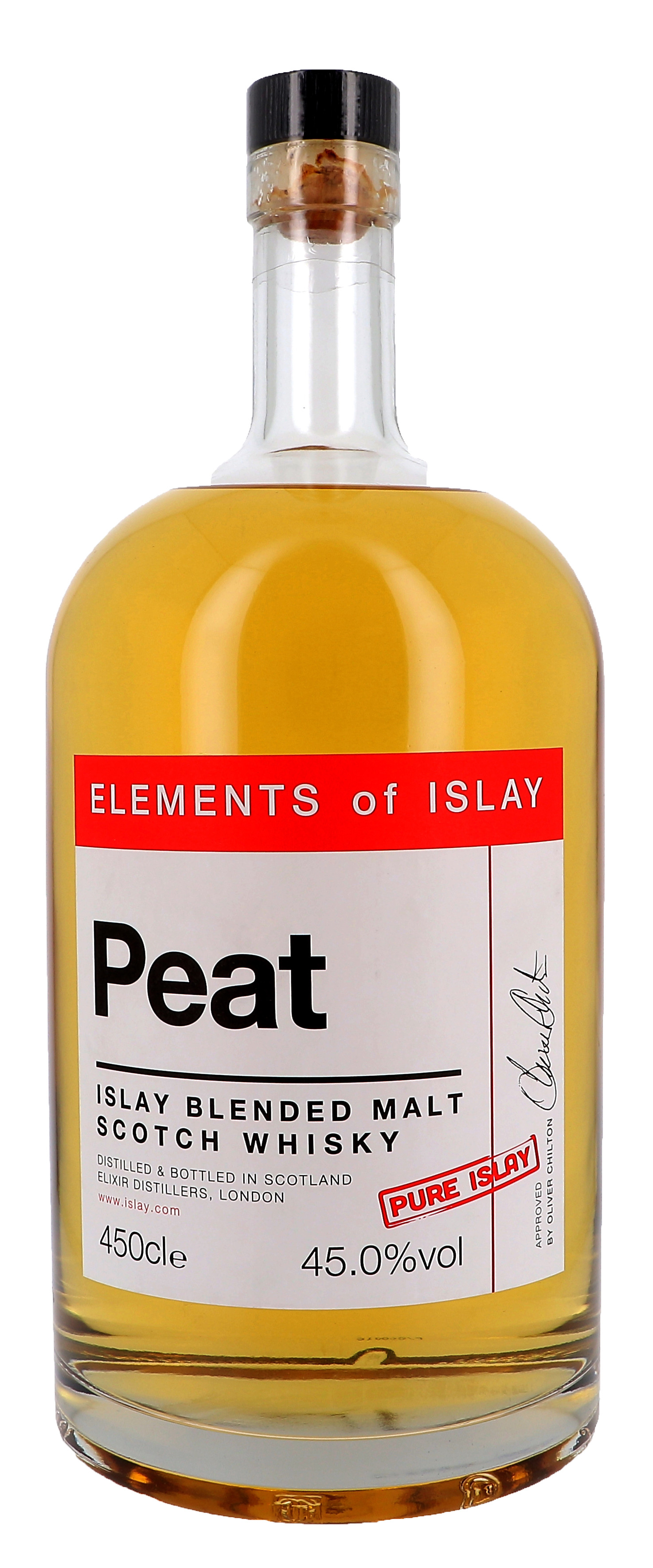 Elements of Islay Peat 4.5Liter 45% Islay Blended Malt Scotch Whisky (Whisky)