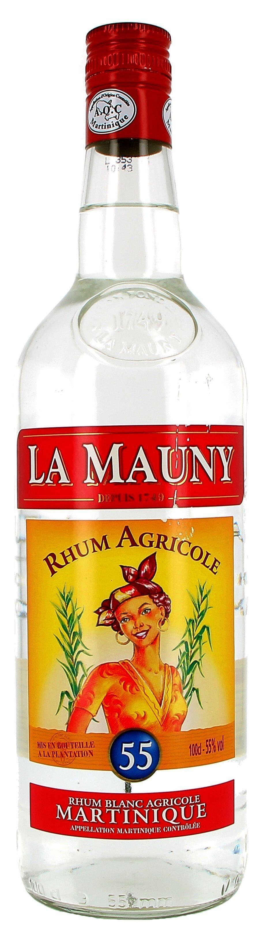 Rum white La Mauny 1L 55% Martinique (Rum)