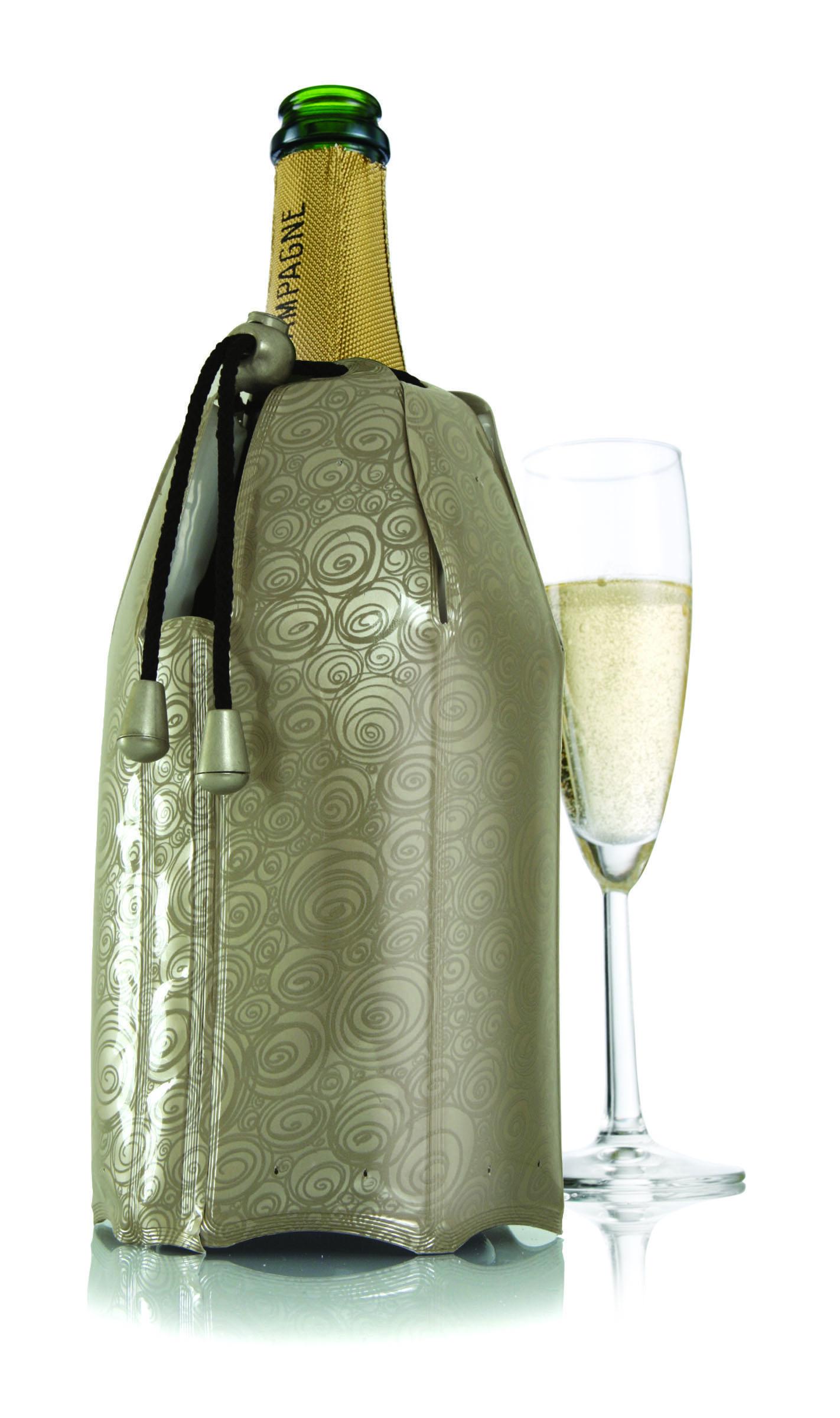 Rapid Ice Champagne Cooler Platinum 1pc Vacu Vin