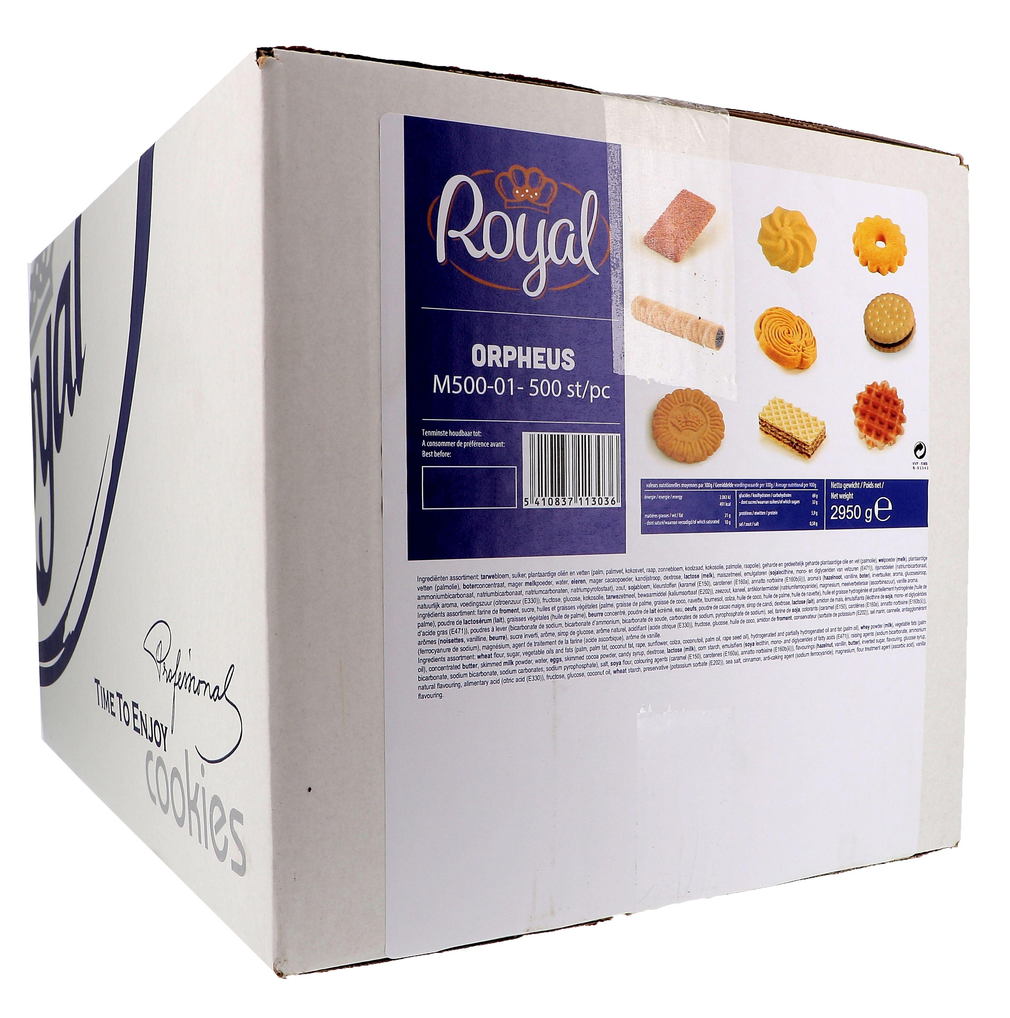 Royal Biscuits Orpheus Mix koffiekoekjes individueel verpakt 500st
