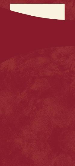 Duni Sacchetto bordeaux 200x85 + Tissue Napkin Buttermilk 100pcs