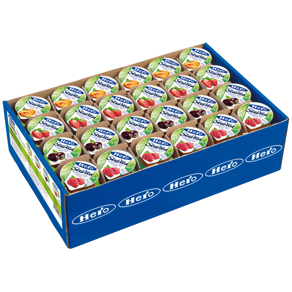 Hero Stevita Jam assorted 120x25gr Portions Individuelles