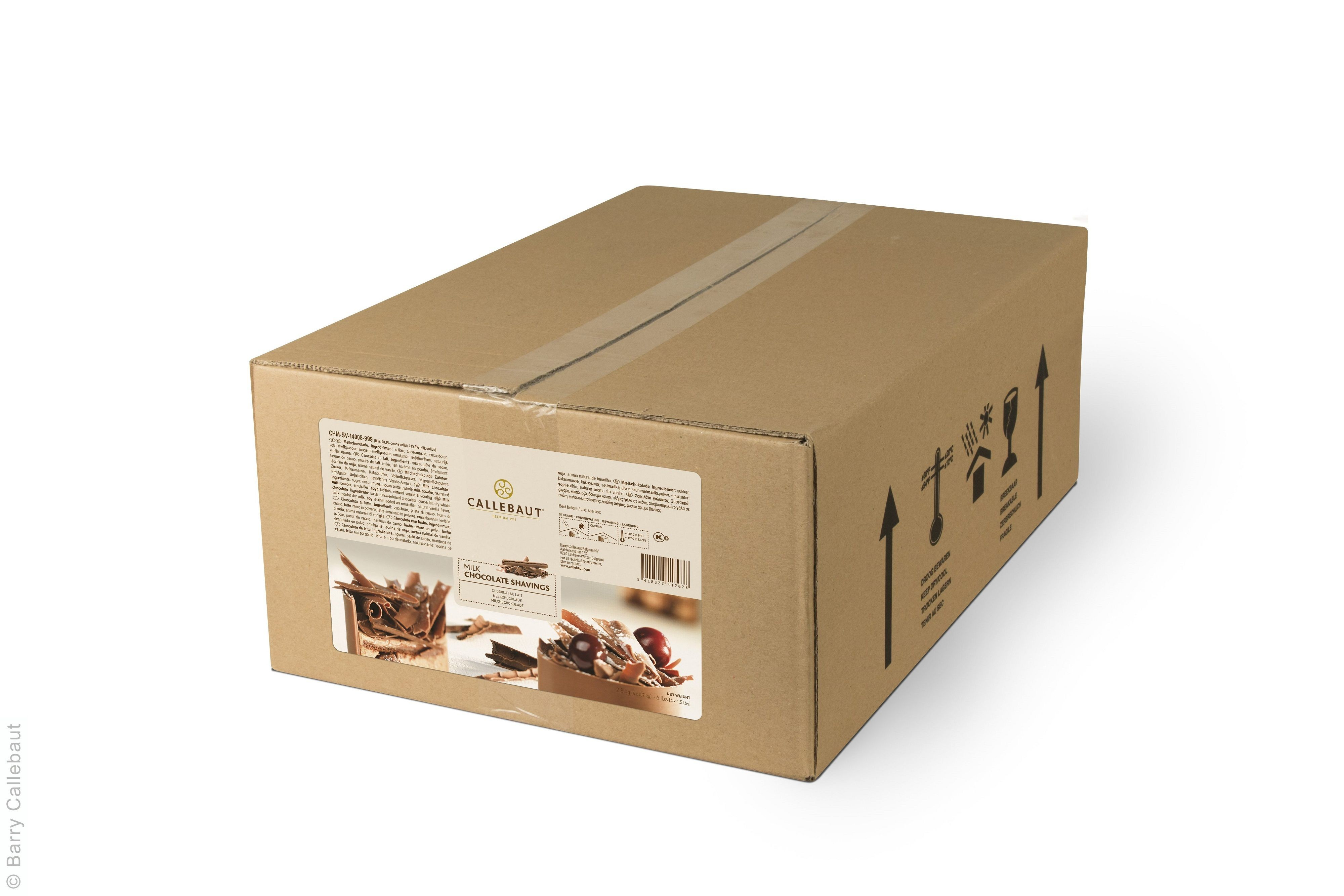 Chocolate shavings milk 2.5kg 5.5lbs Callebaut