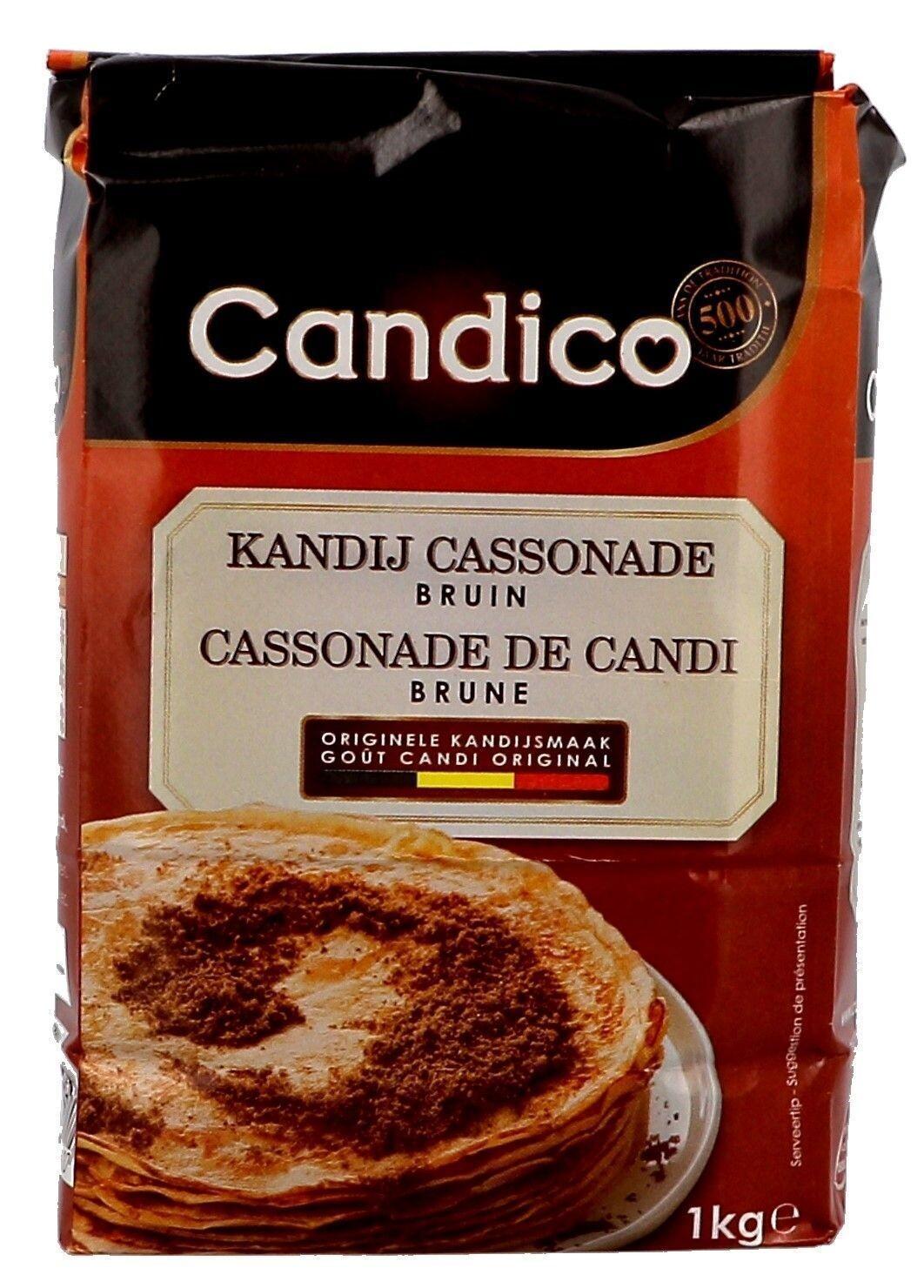 Dark brown soft candy sugar cassonade 1000g Candico (Suiker)