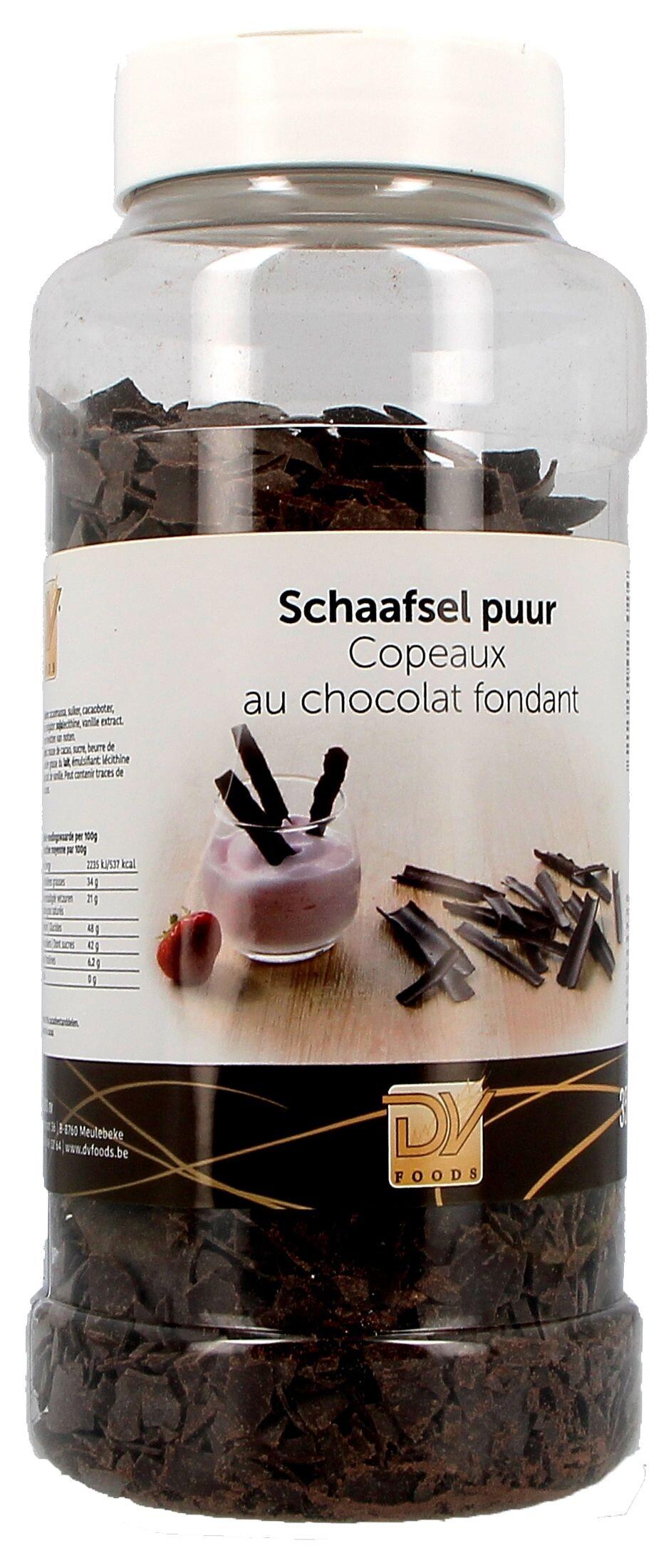 Chocoladeschilfers fondant 350gr DV Foods (Chocolade)