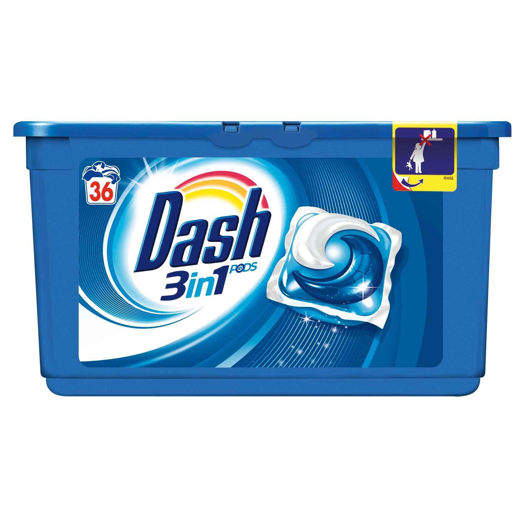 Dash vloeibaar wasmiddel Pods 3in1 36st