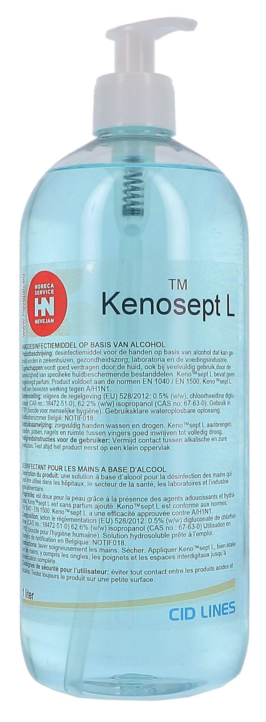 Kenosept-L Disinfection for hands 1000ml Cid Lines (Hygiëneproducten)