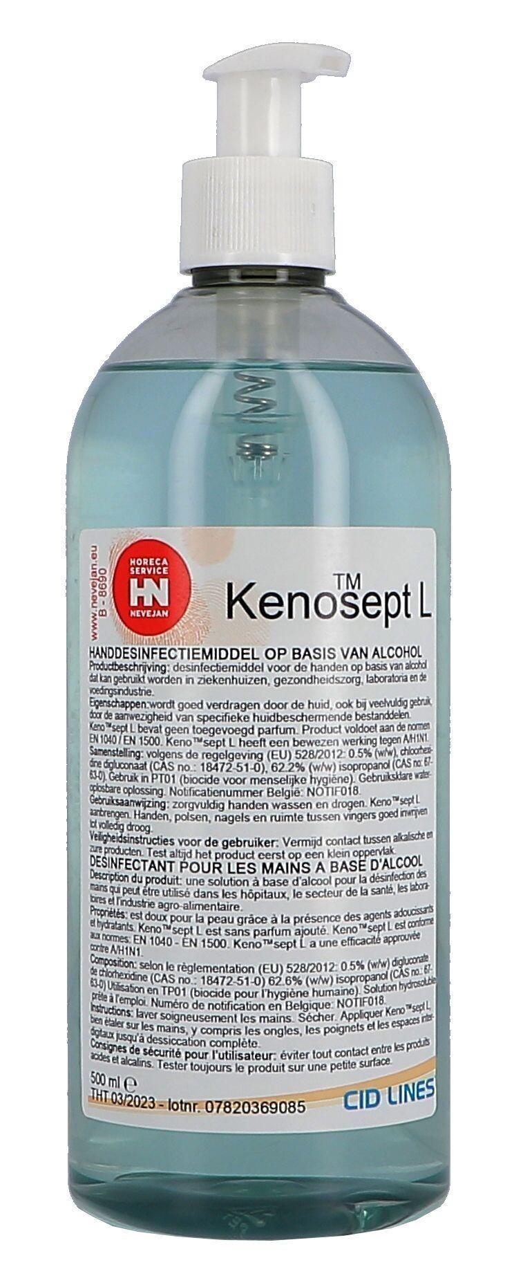 Kenosept-L Disinfection for hands 500ml Cid Lines (Hygiëneproducten)