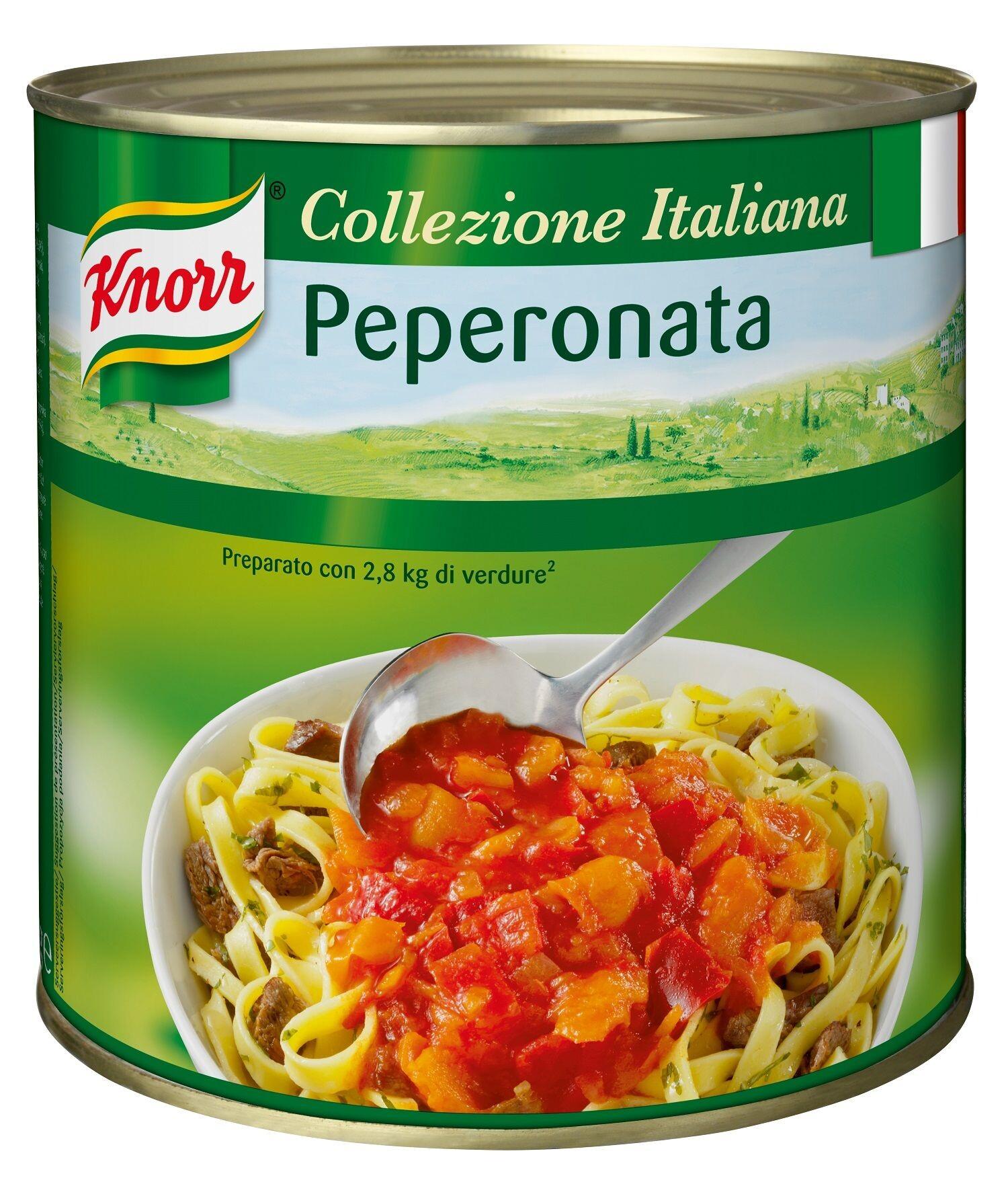 Knorr Peperonata saus 3L blik Collezione Italiana