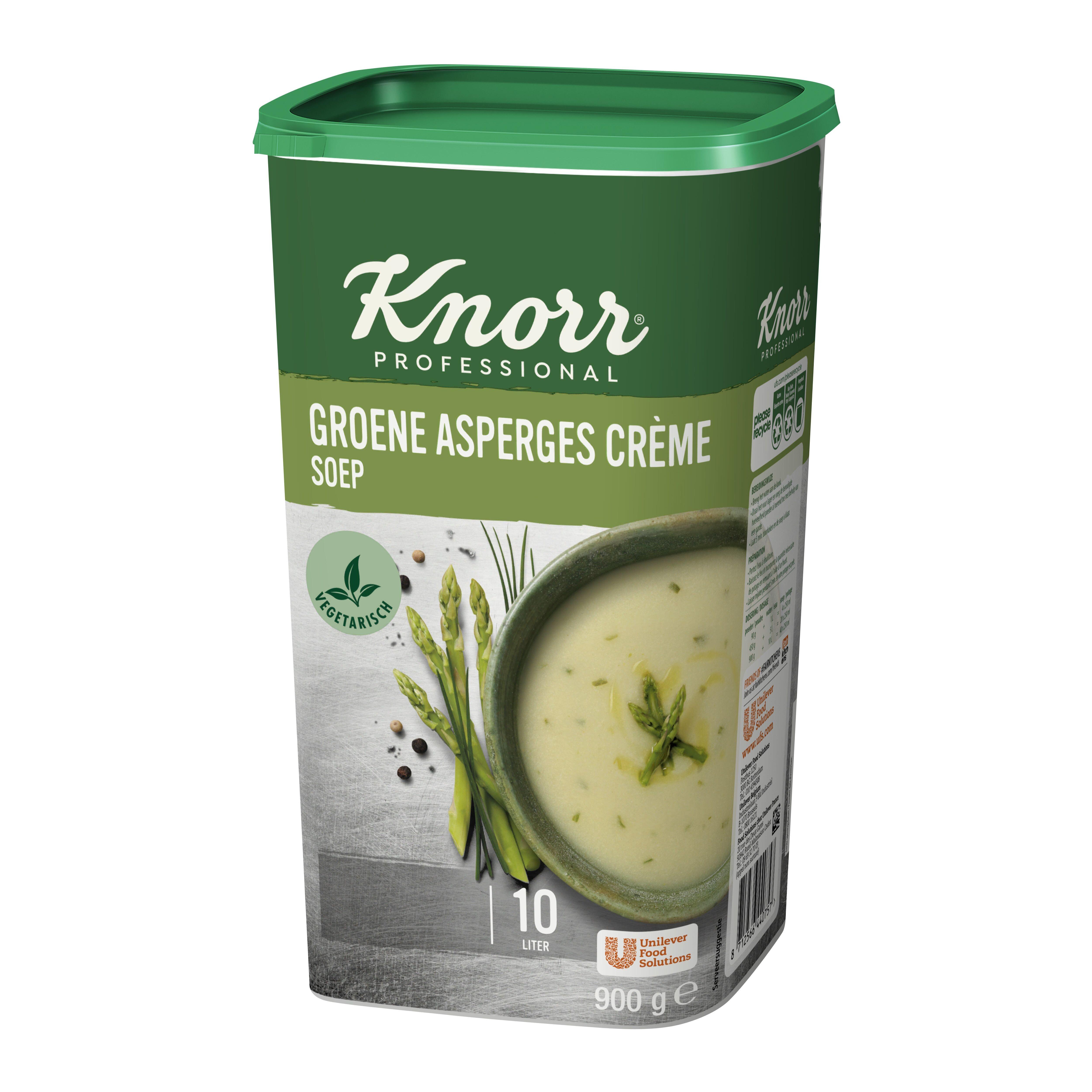 Knorr groene asperges creme soep 0.9kg Professional