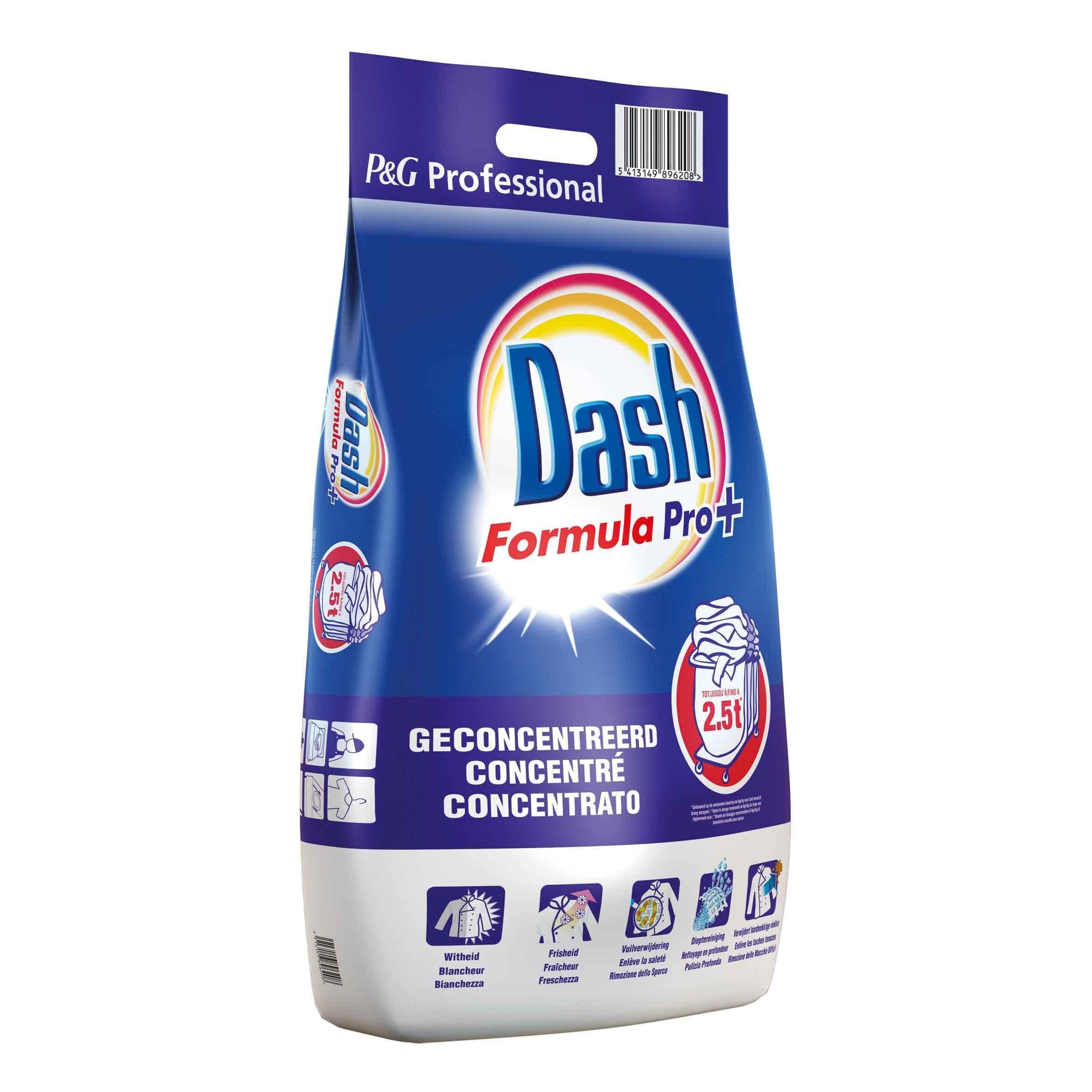 Dash formula pro+ 15kg waspoeder 150dos professional