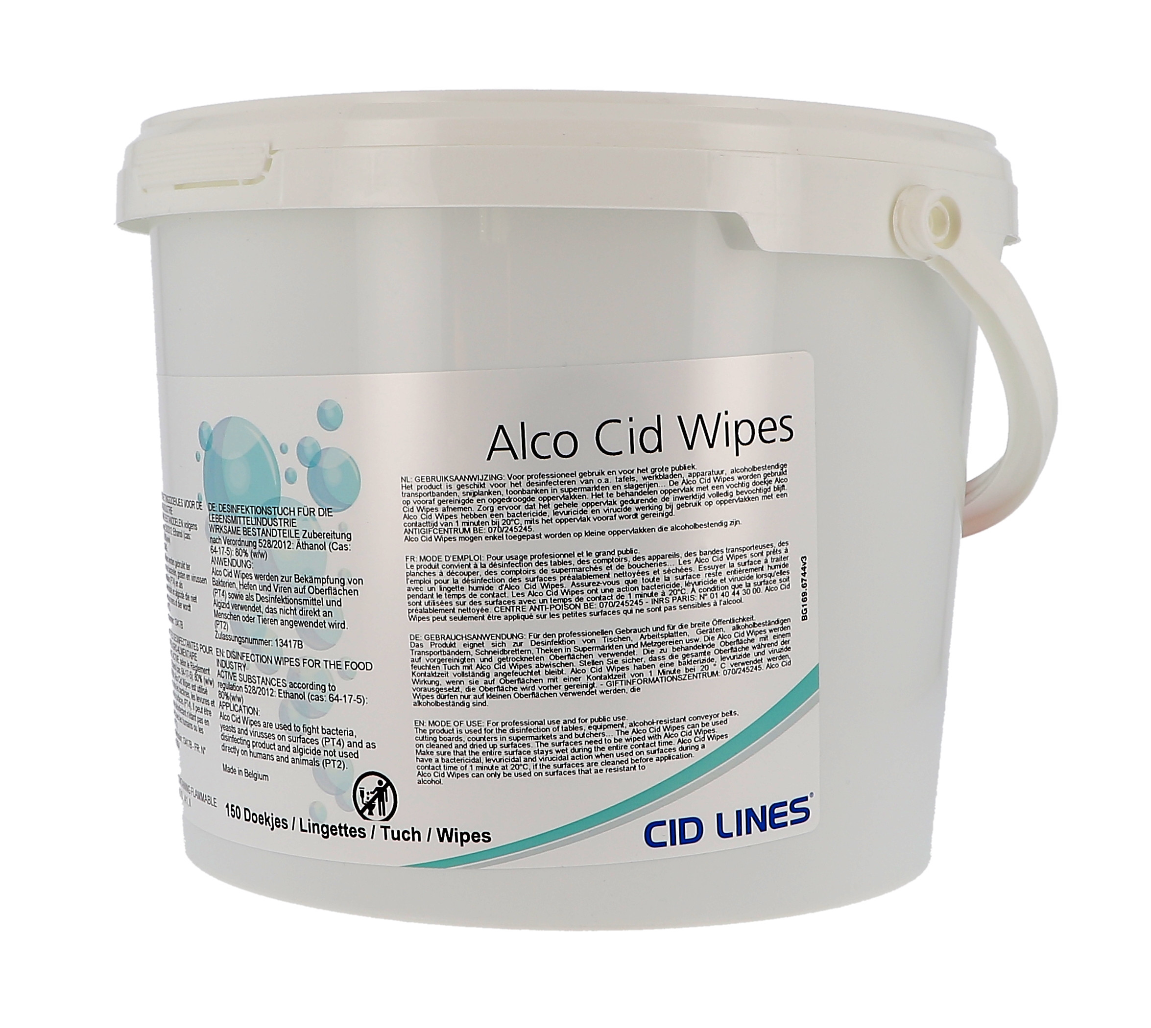 Alco Cid Wipes 150pcs Disinfecting Wipes for Surfaces