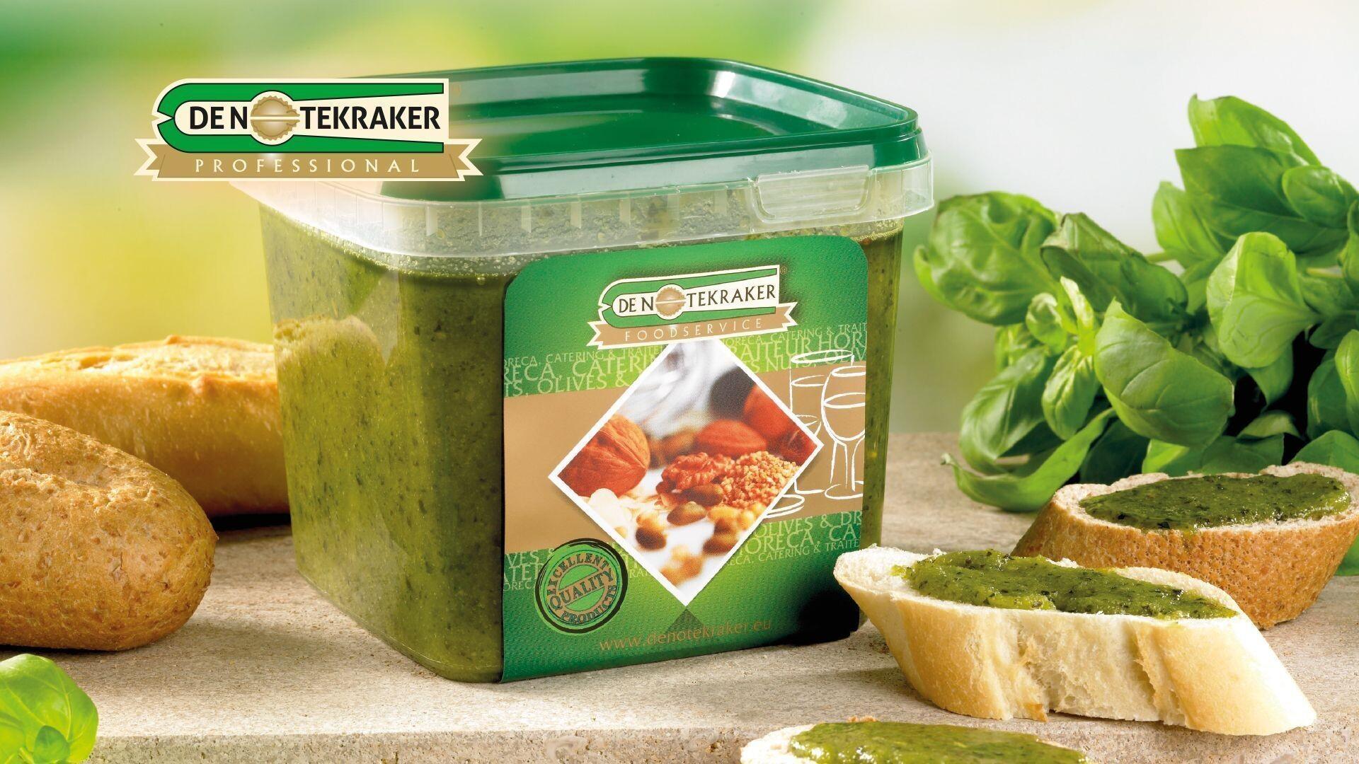 De Notekraker Green Basil Pesto 1kg