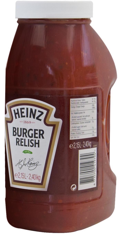 Heinz Relish Burger sauce 2.15L 2,5kg Pet Jar