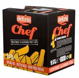 Delizio Chef frying oil 15L bottle in a box