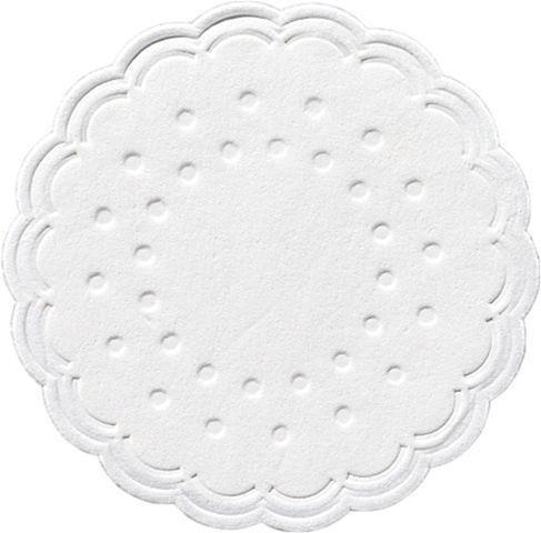 Coaster tissue white 9-plies 7.5cm Duni