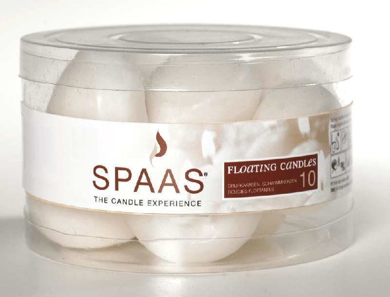 Floating Candles white 45/30 4.5h 10pcs Spaas 0423003