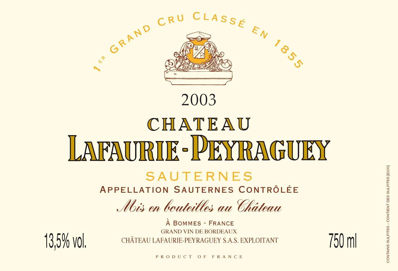 Chateau Lafaurie-Peyraguey Sauternes 1° Cru Classé