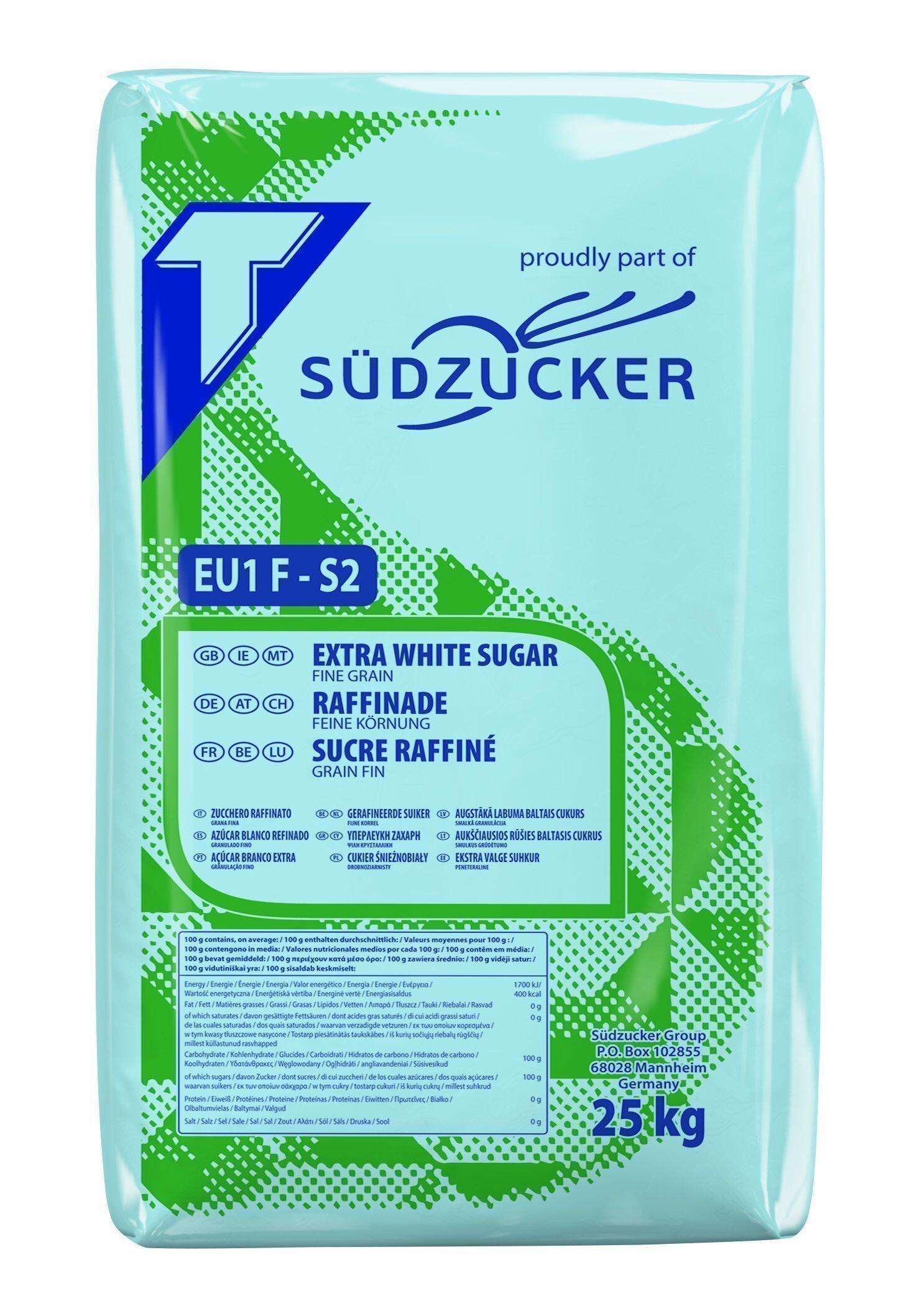 Refined fine sugar S2 25kg Tienen