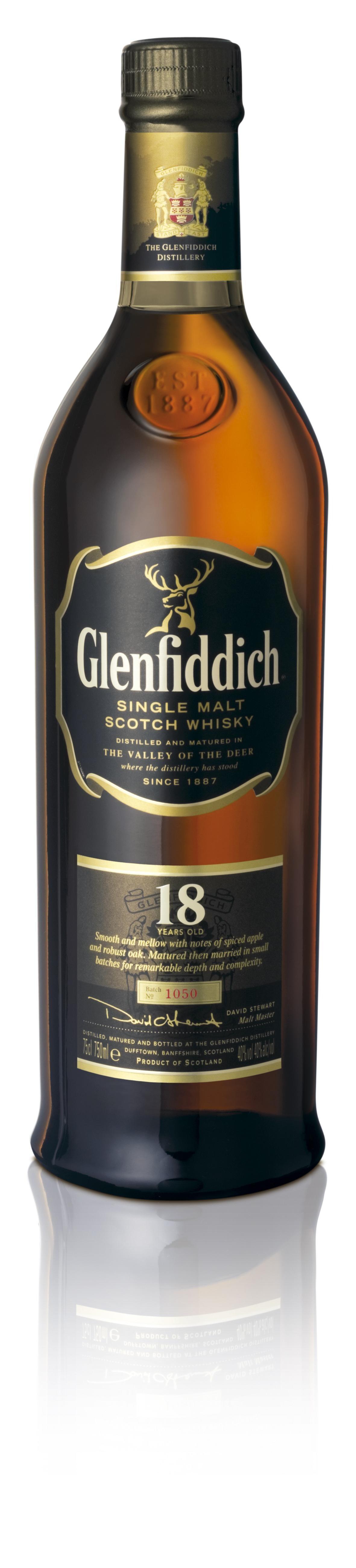 Glenfiddich 18 Years Old 70cl 40% Speyside Single Malt Scotch Whisky