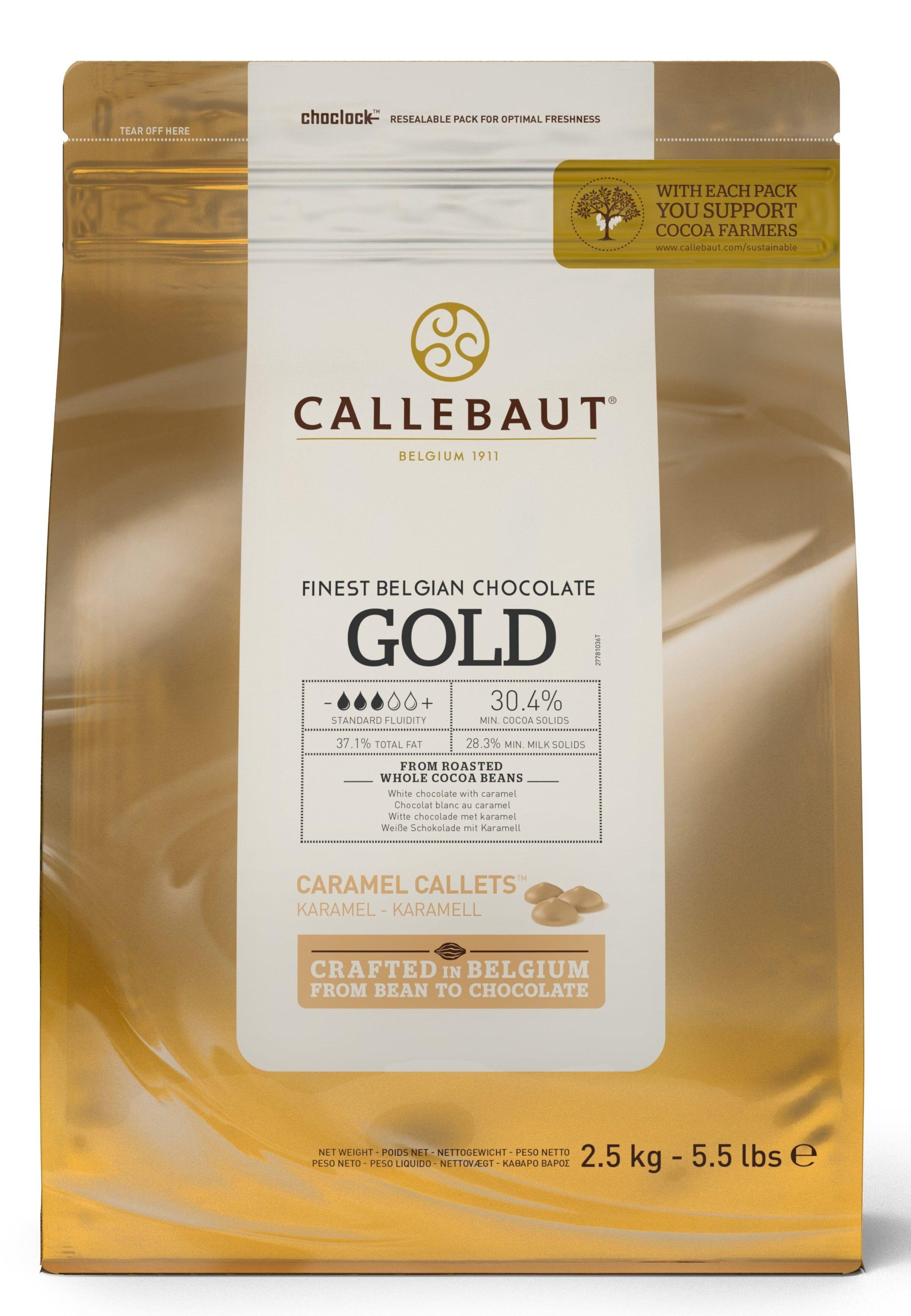 Callebaut Finest Belgian Gold chocolate 2,5kg callets (Chocolade)