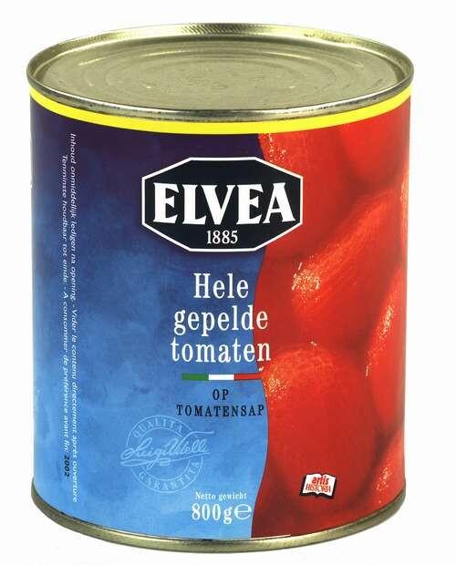 Elvea hele gepelde tomaten 1L
