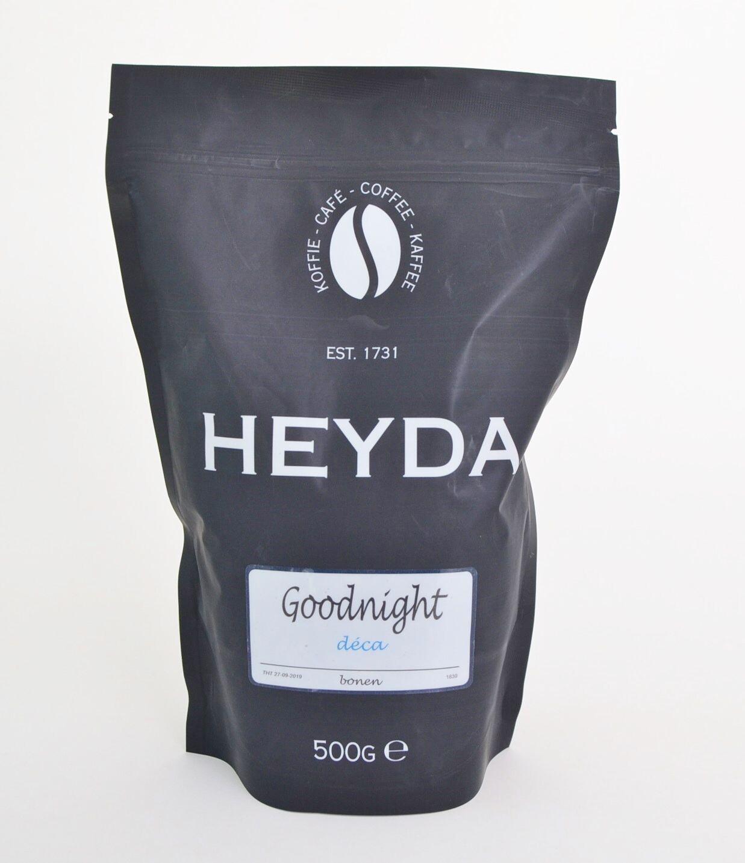 Heyda Goodnight Coffee Decaf Beans 500gr