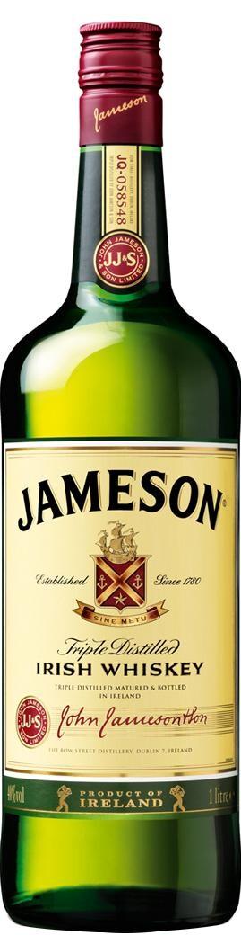 Jameson 1L 40% Blended Irish Whiskey