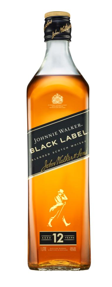Johnnie Walker Black Label 12 Year 1L 40% Blended Scotch Whisky
